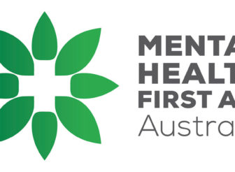 Mental Health First Aid Australia Green Flower Star Logo